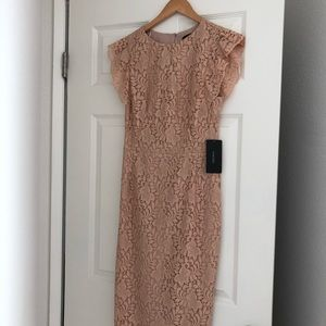 Zara dusty rose pink lace dress